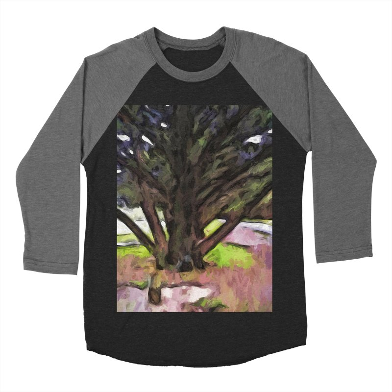 Avenue of Trees with a Pink Ground 1 Women's Baseball Triblend T-Shirt by jackievano's Artist Shop