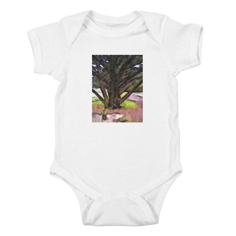 Avenue of Trees with a Pink Ground 1 Kids Baby Bodysuit by jackievano's Artist Shop