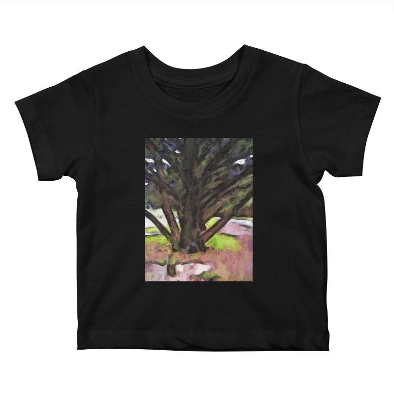 Avenue of Trees with a Pink Ground 1 Kids Baby T-Shirt by jackievano's Artist Shop