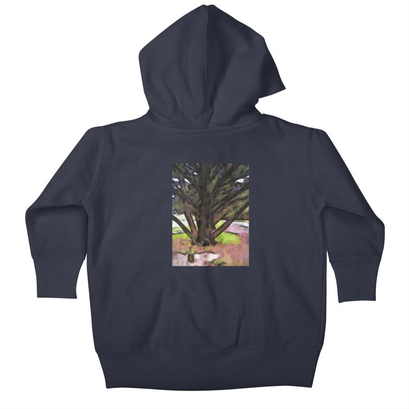 Avenue of Trees with a Pink Ground 1 Kids Baby Zip-Up Hoody by jackievano's Artist Shop