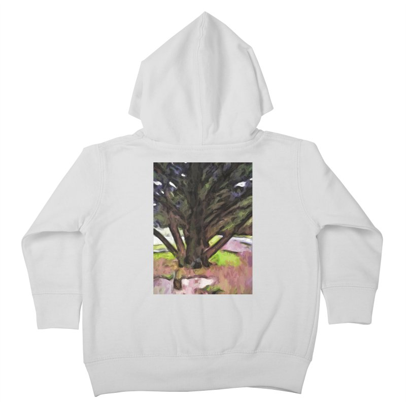 Avenue of Trees with a Pink Ground 1 Kids Toddler Zip-Up Hoody by jackievano's Artist Shop
