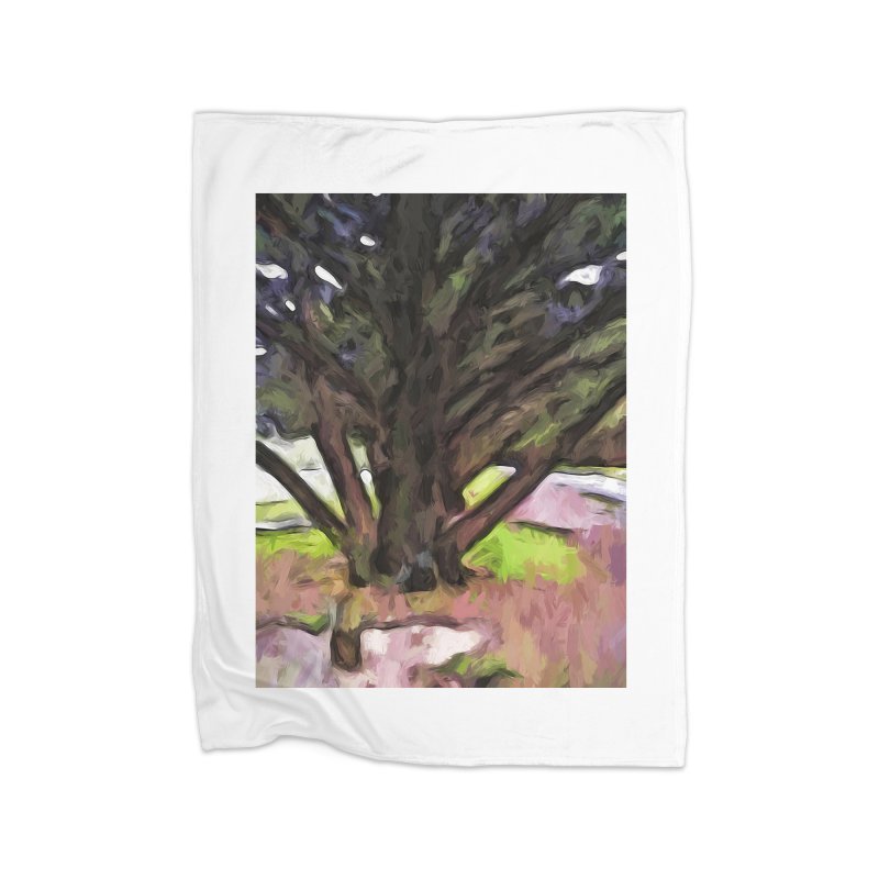 Avenue of Trees with a Pink Ground 1 Home Blanket by jackievano's Artist Shop