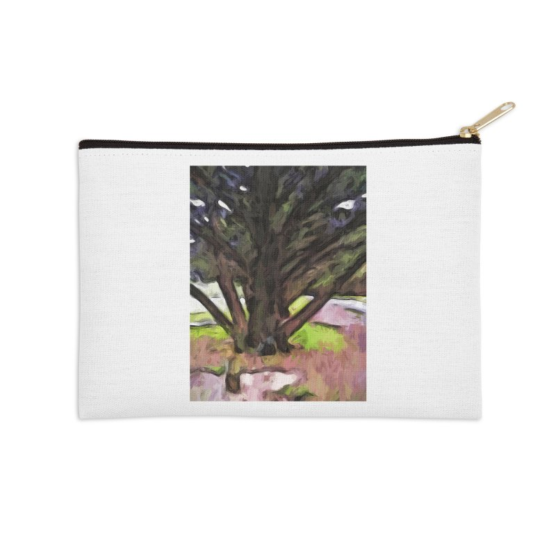 Avenue of Trees with a Pink Ground 1 Accessories Zip Pouch by jackievano's Artist Shop