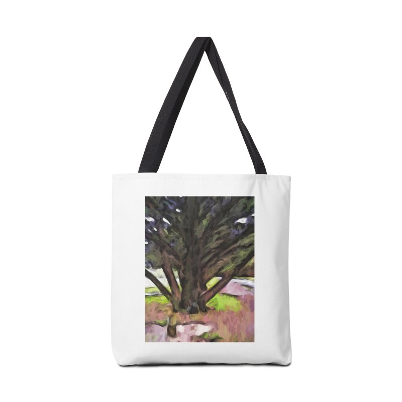 Avenue of Trees with a Pink Ground 1 Accessories Bag by jackievano's Artist Shop