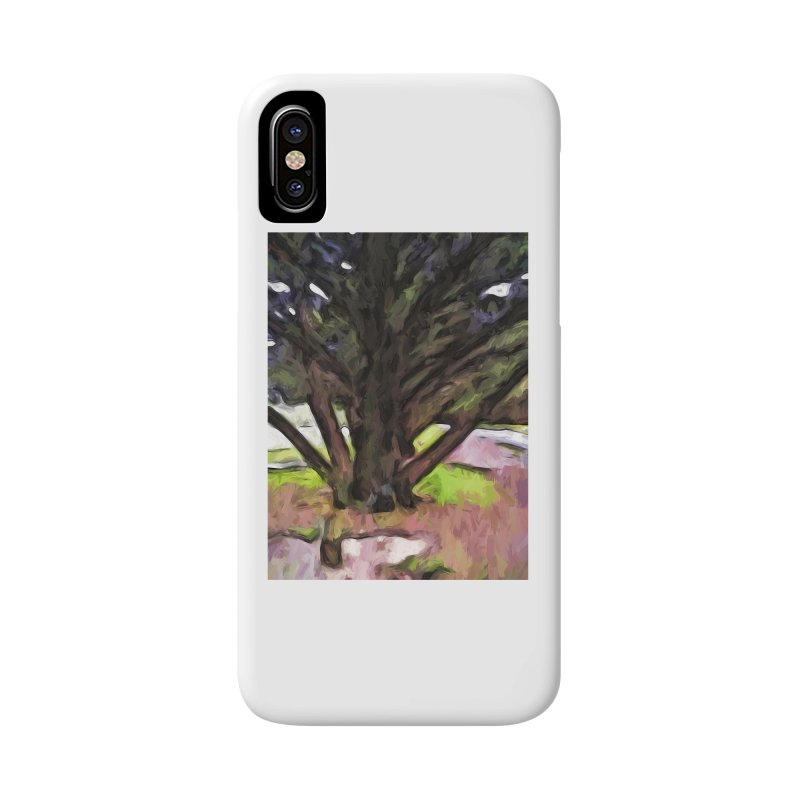 Avenue of Trees with a Pink Ground 1 Accessories Phone Case by jackievano's Artist Shop