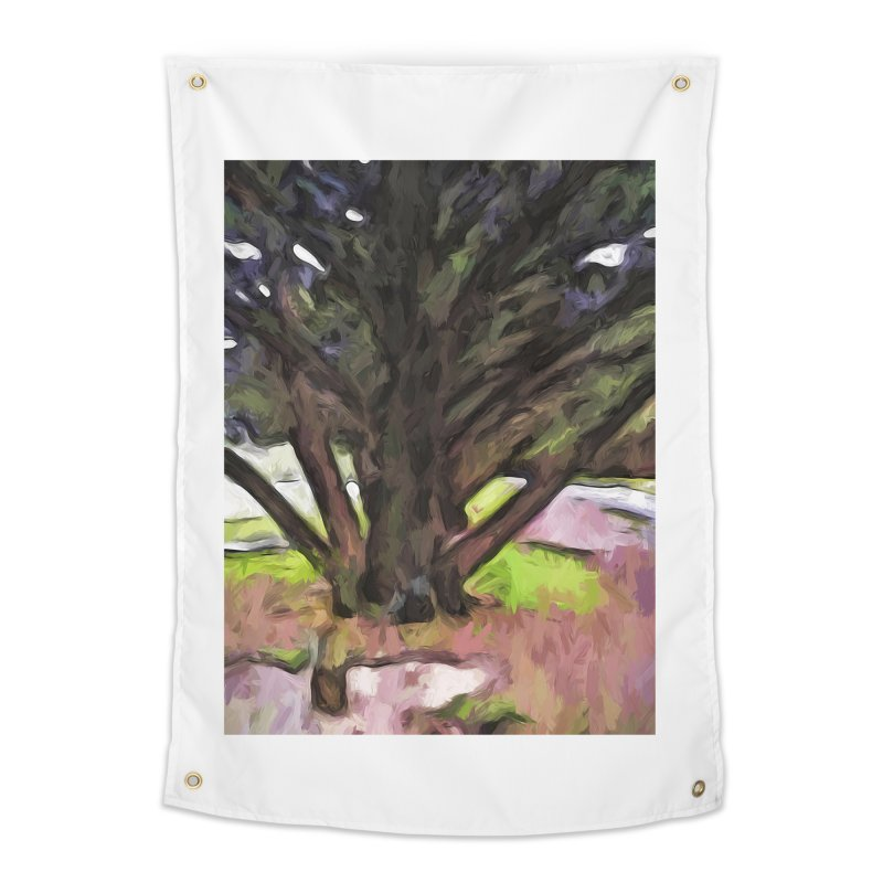 Avenue of Trees with a Pink Ground 1 Home Tapestry by jackievano's Artist Shop