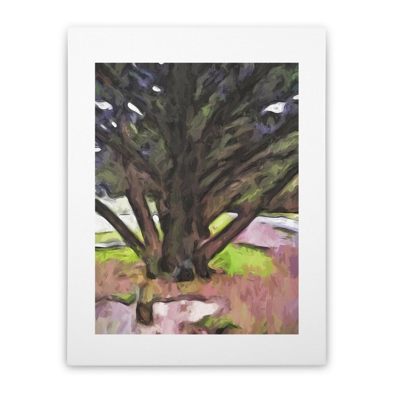 Avenue of Trees with a Pink Ground 1 Home Stretched Canvas by jackievano's Artist Shop