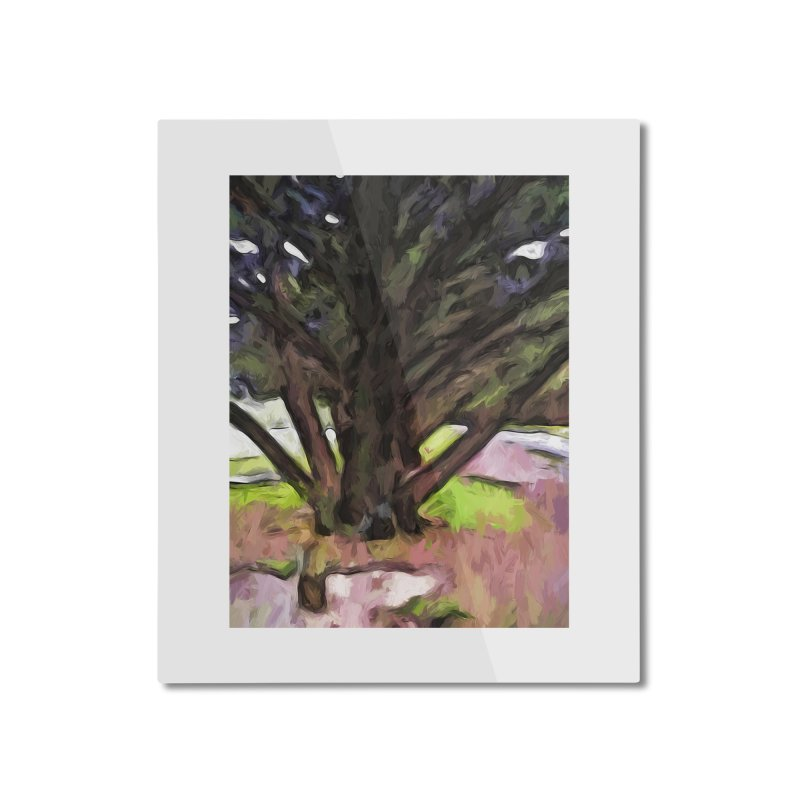 Avenue of Trees with a Pink Ground 1 Home Mounted Aluminum Print by jackievano's Artist Shop