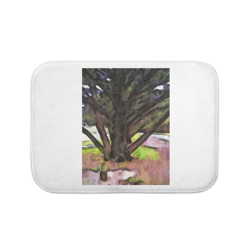 Avenue of Trees with a Pink Ground 1 Home Bath Mat by jackievano's Artist Shop