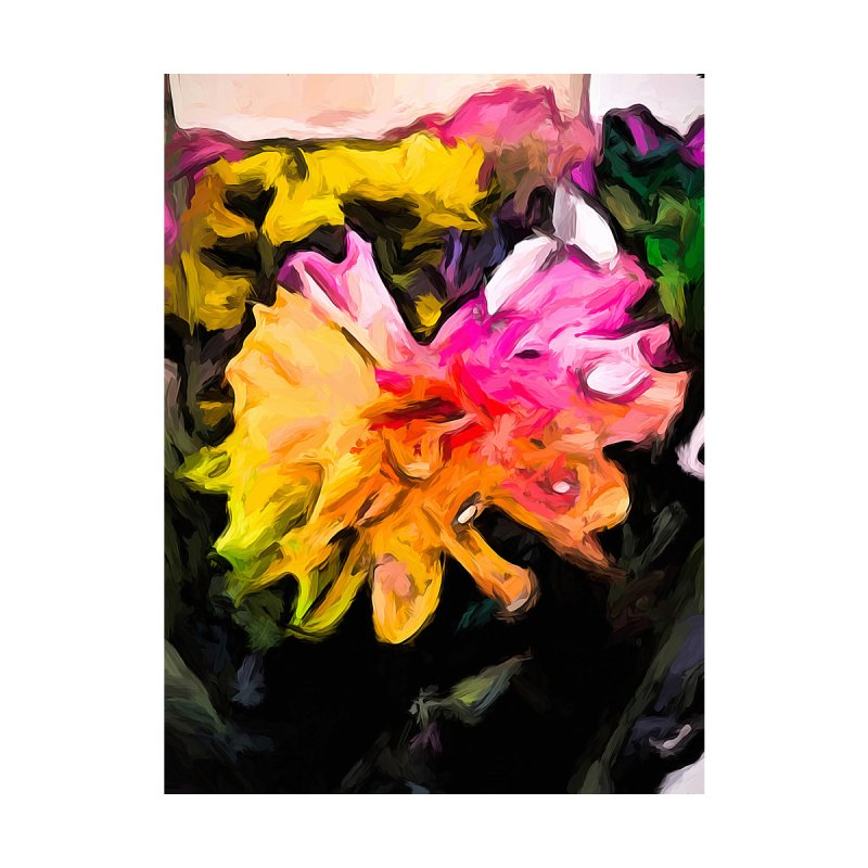 Rainbow Flowers 1 None  by jackievano's Artist Shop