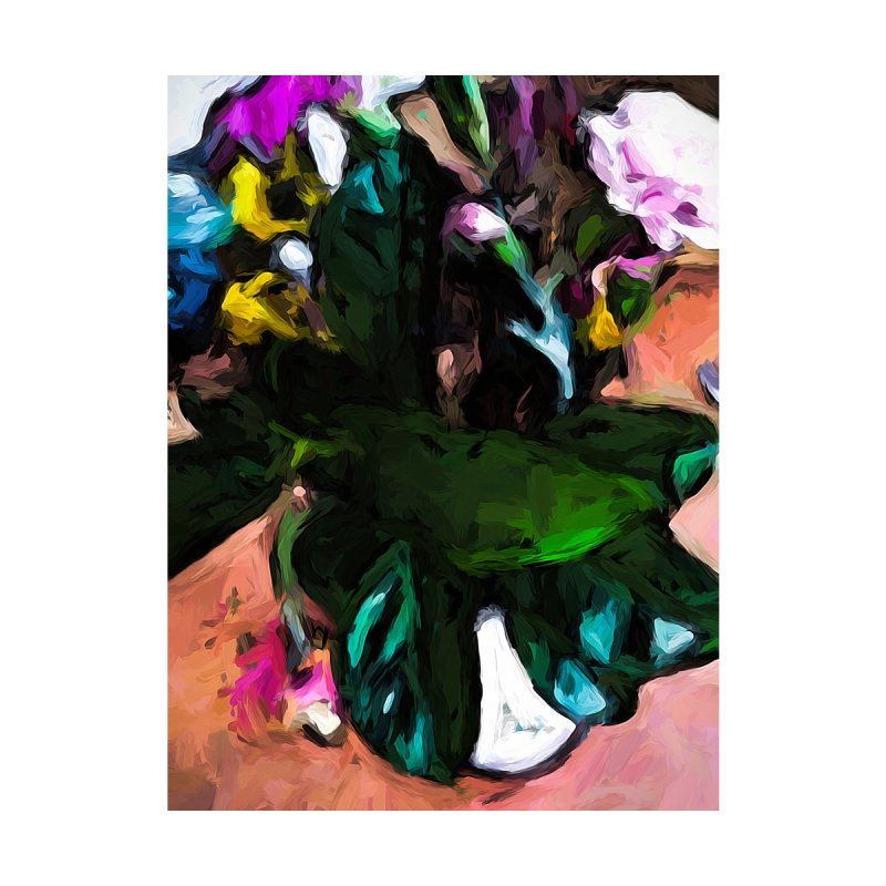 Vase of Green Leaves 1 by jackievano's Artist Shop