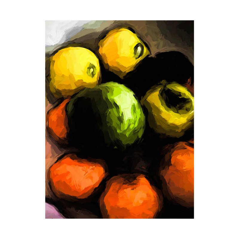 Apples of Yellow and Green with Orange Mandarins by jackievano's Artist Shop