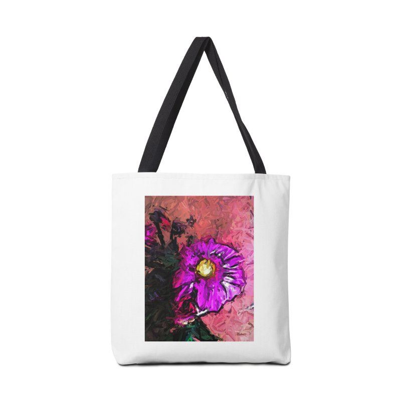 The Purple Flower and the Pink Floor Accessories Bag by jackievano's Artist Shop