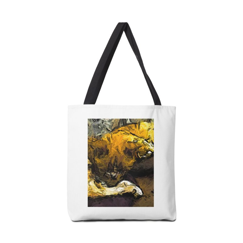 The Sleeping Gold Cats Accessories Bag by jackievano's Artist Shop