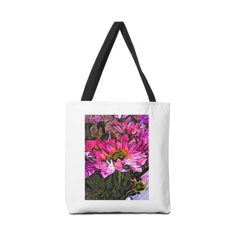 The Turmoil of the Pink Flowers Accessories Bag by jackievano's Artist Shop
