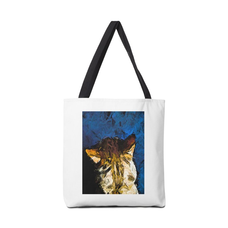The Ears of the Gold Cat Accessories Bag by jackievano's Artist Shop