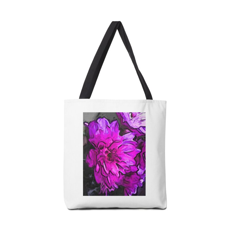 The Pink Flower with the Lavender Edges Accessories Bag by jackievano's Artist Shop