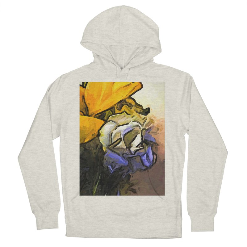 The White Rose and the Yellow Petals Women's Pullover Hoody by jackievano's Artist Shop