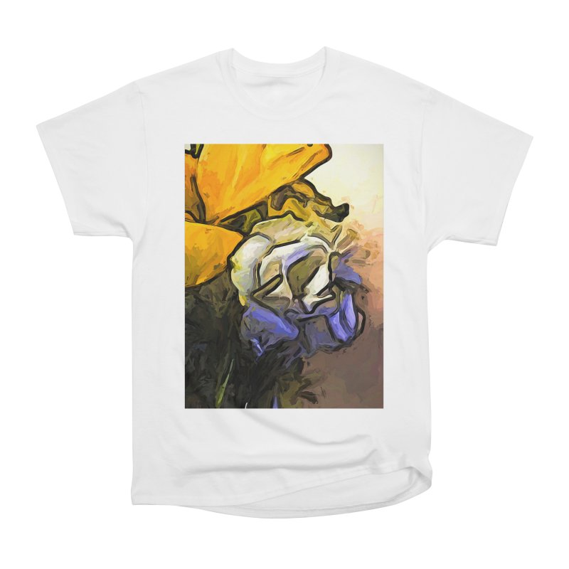 The White Rose and the Yellow Petals Men's Classic T-Shirt by jackievano's Artist Shop