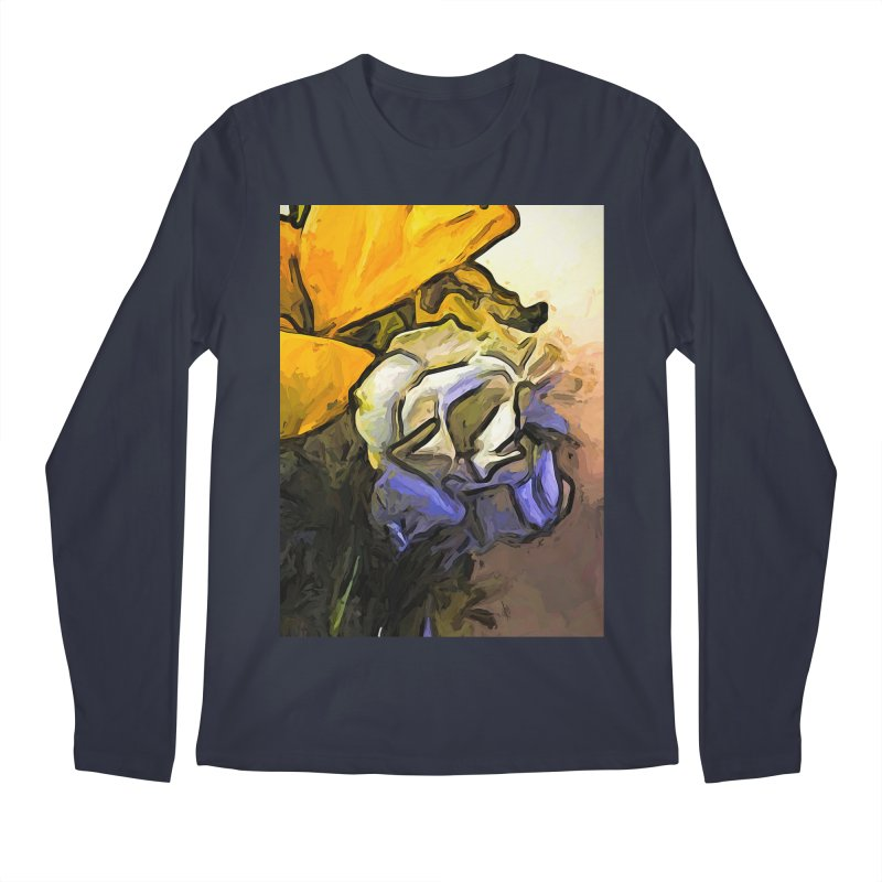 The White Rose and the Yellow Petals Men's Longsleeve T-Shirt by jackievano's Artist Shop