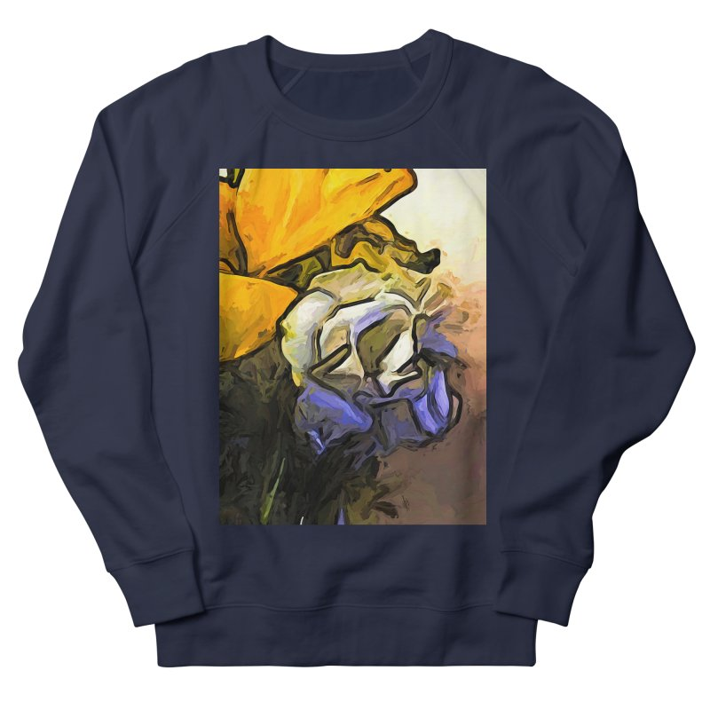 The White Rose and the Yellow Petals Men's Sweatshirt by jackievano's Artist Shop