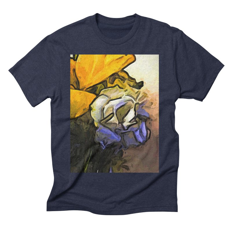 The White Rose and the Yellow Petals Men's Triblend T-Shirt by jackievano's Artist Shop