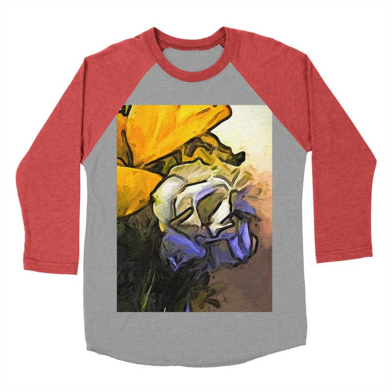 The White Rose and the Yellow Petals Women's Baseball Triblend T-Shirt by jackievano's Artist Shop