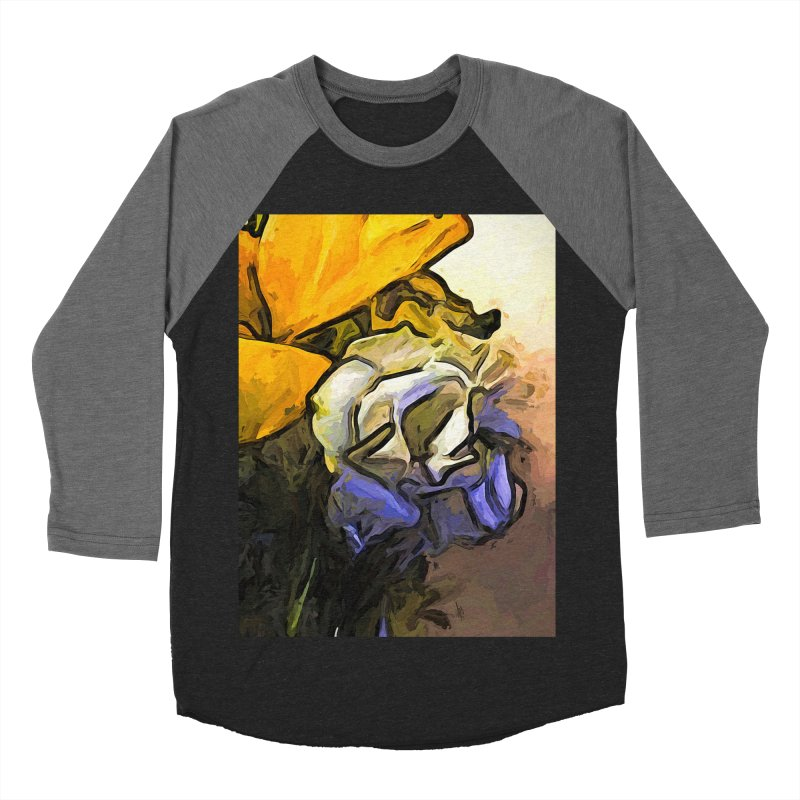 The White Rose and the Yellow Petals Men's Baseball Triblend T-Shirt by jackievano's Artist Shop