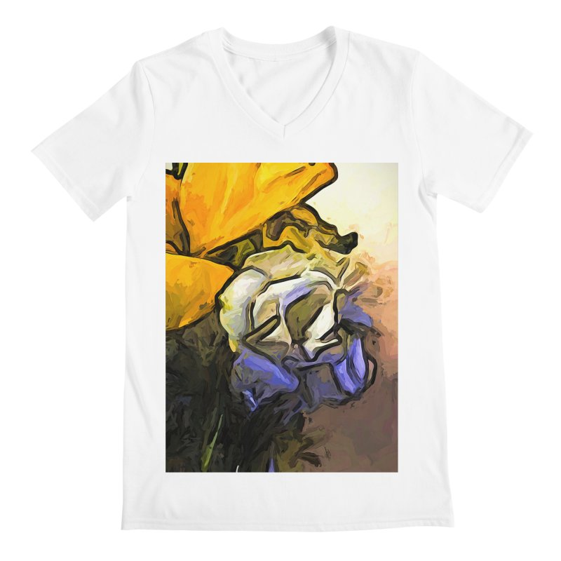 The White Rose and the Yellow Petals Men's V-Neck by jackievano's Artist Shop