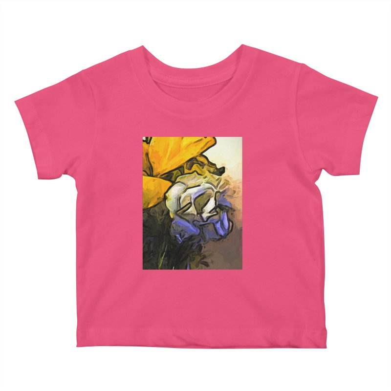 The White Rose and the Yellow Petals Kids Baby T-Shirt by jackievano's Artist Shop
