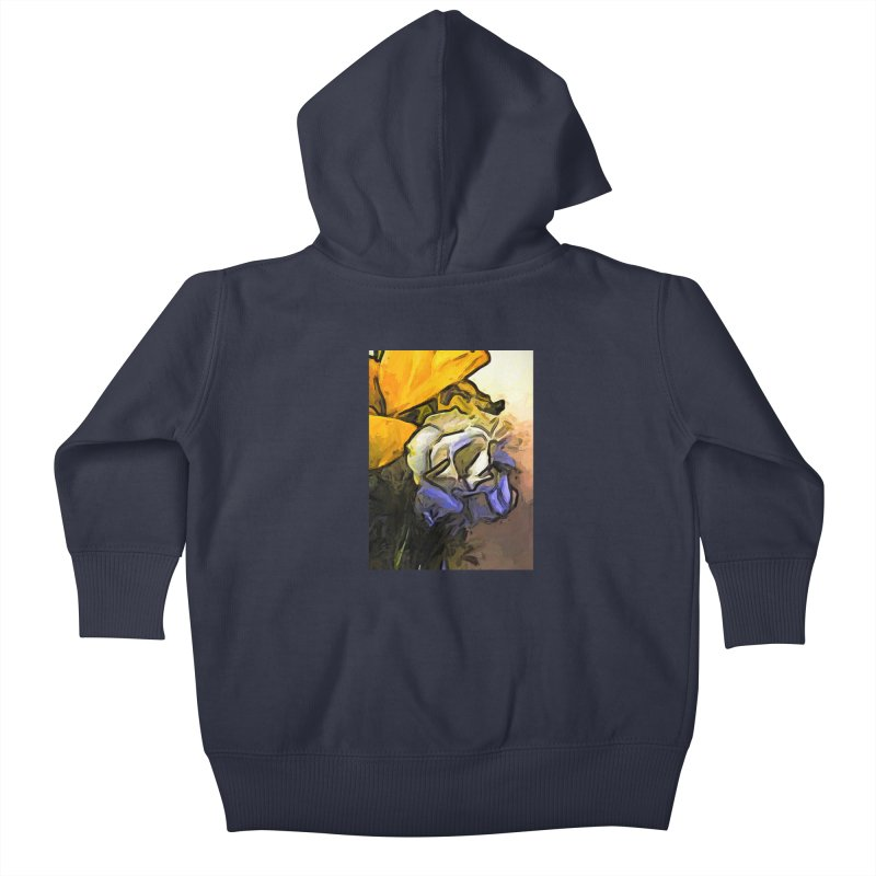The White Rose and the Yellow Petals Kids Baby Zip-Up Hoody by jackievano's Artist Shop