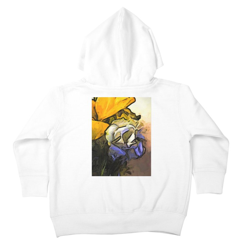 The White Rose and the Yellow Petals Kids Toddler Zip-Up Hoody by jackievano's Artist Shop