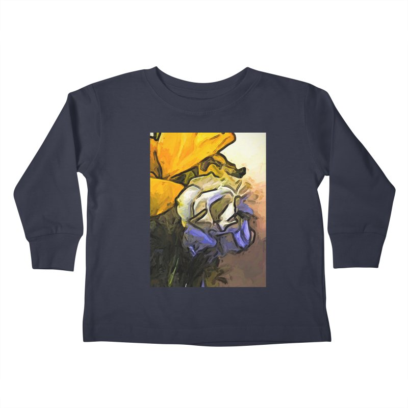 The White Rose and the Yellow Petals Kids Toddler Longsleeve T-Shirt by jackievano's Artist Shop