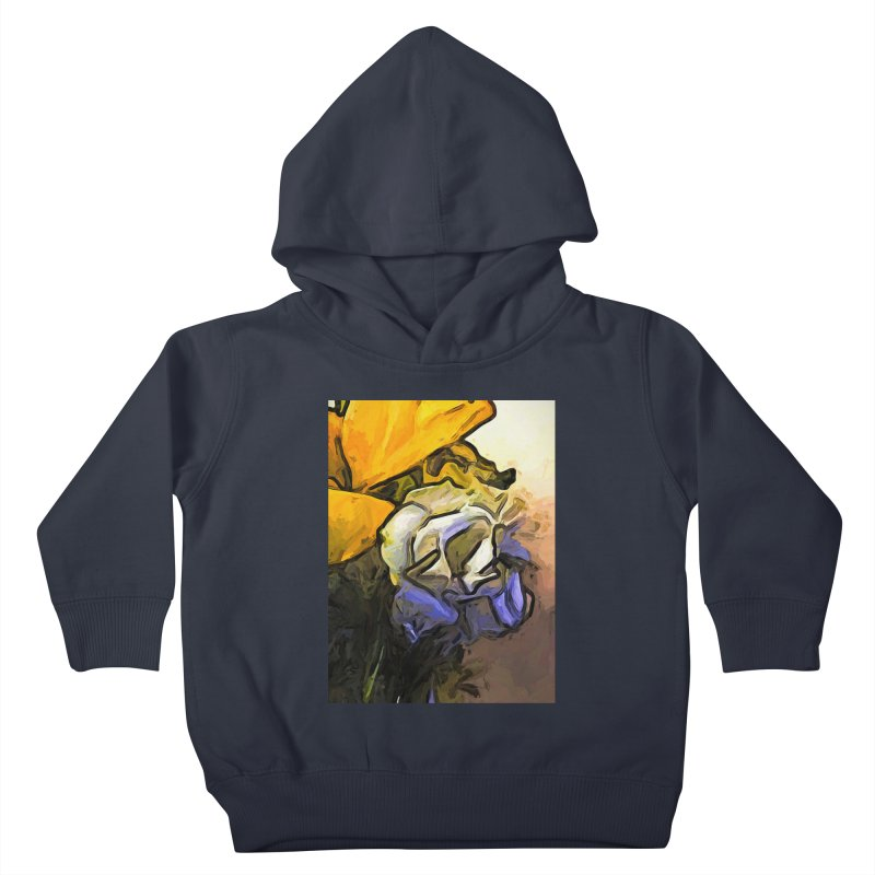 The White Rose and the Yellow Petals Kids Toddler Pullover Hoody by jackievano's Artist Shop