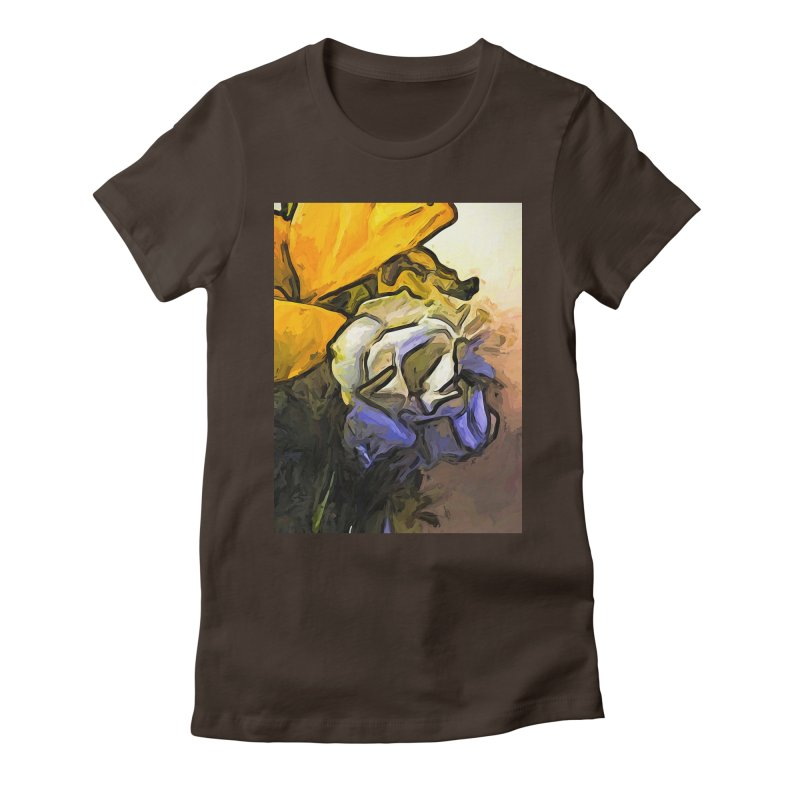 The White Rose and the Yellow Petals Women's Fitted T-Shirt by jackievano's Artist Shop