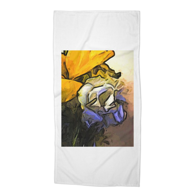 The White Rose and the Yellow Petals Accessories Beach Towel by jackievano's Artist Shop