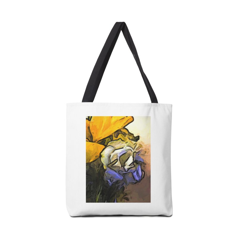 The White Rose and the Yellow Petals Accessories Bag by jackievano's Artist Shop