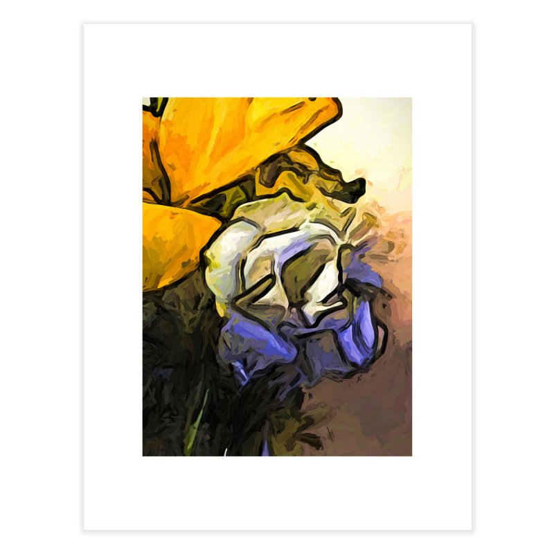 The White Rose and the Yellow Petals Home Fine Art Print by jackievano's Artist Shop