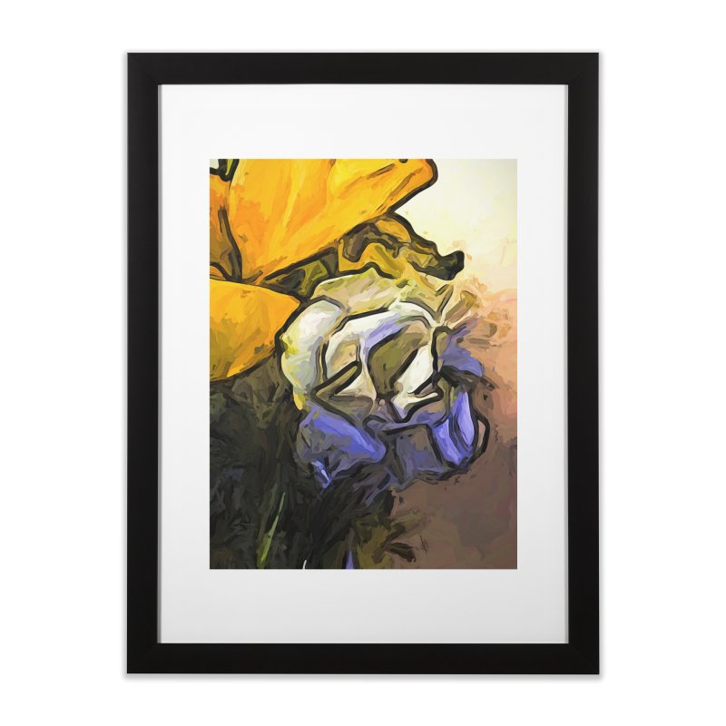 The White Rose and the Yellow Petals Home Framed Fine Art Print by jackievano's Artist Shop