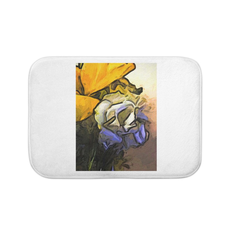 The White Rose and the Yellow Petals Home Bath Mat by jackievano's Artist Shop