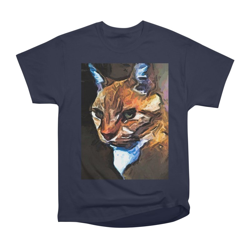 The Gold Cat with the Stage Presence Women's Classic Unisex T-Shirt by jackievano's Artist Shop