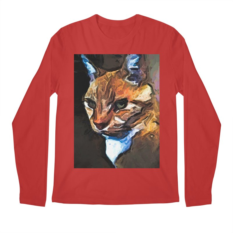 The Gold Cat with the Stage Presence Men's Longsleeve T-Shirt by jackievano's Artist Shop