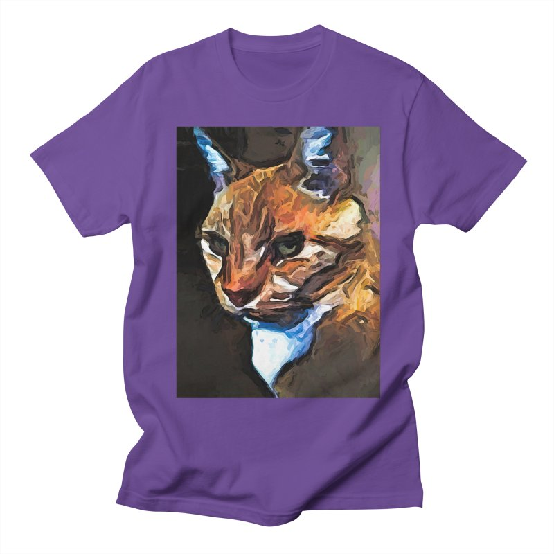The Gold Cat with the Stage Presence Women's Unisex T-Shirt by jackievano's Artist Shop
