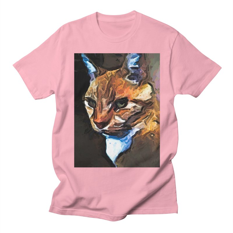 The Gold Cat with the Stage Presence Men's T-Shirt by jackievano's Artist Shop