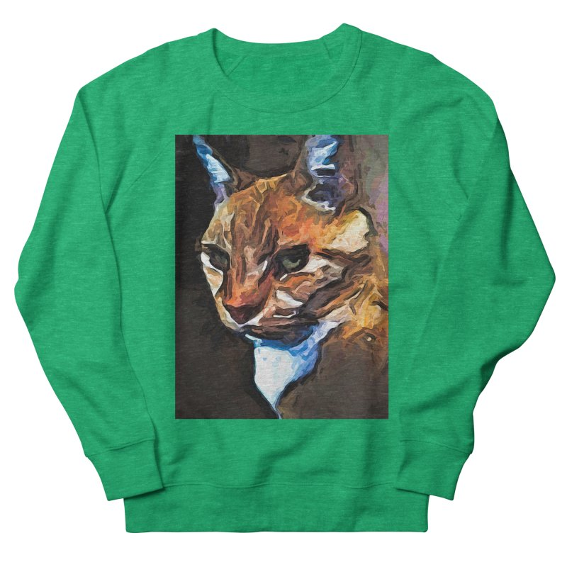The Gold Cat with the Stage Presence Women's Sweatshirt by jackievano's Artist Shop