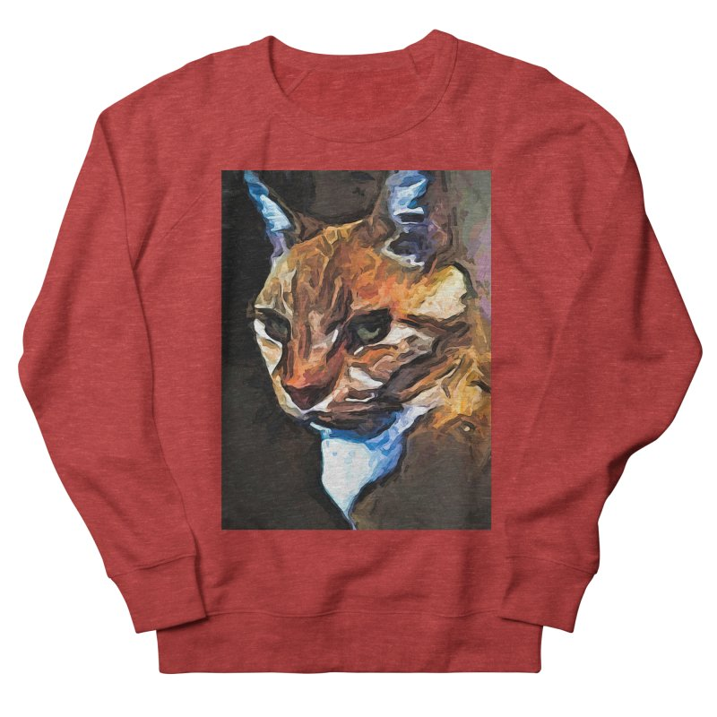 The Gold Cat with the Stage Presence Men's Sweatshirt by jackievano's Artist Shop