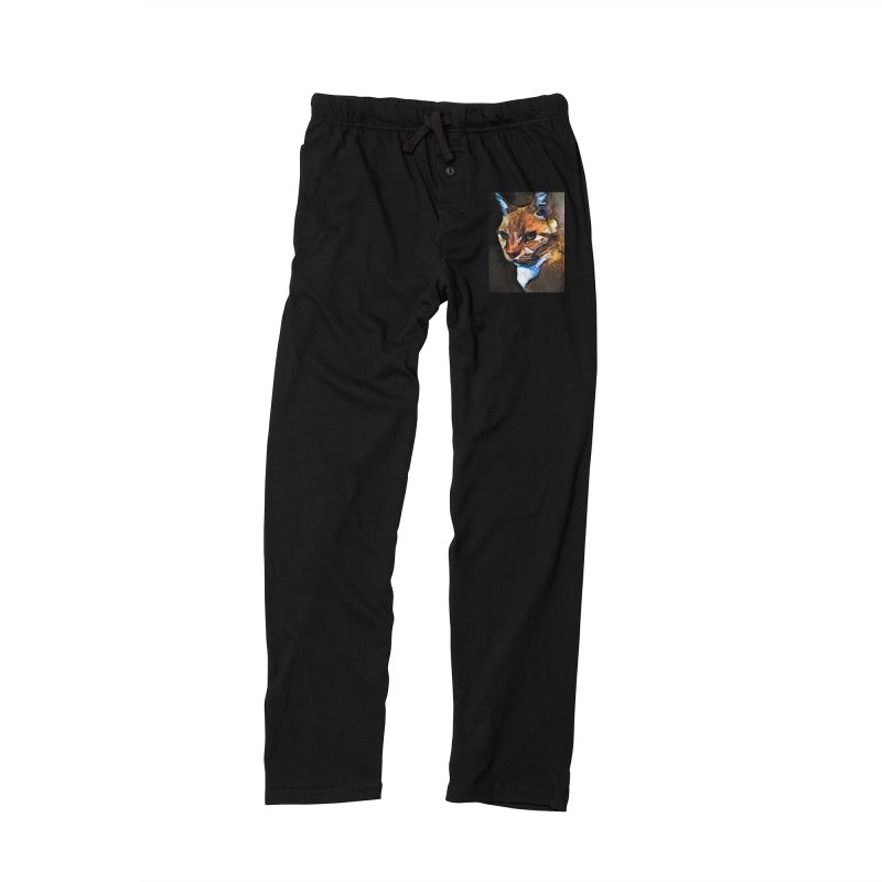 The Gold Cat with the Stage Presence Men's Lounge Pants by jackievano's Artist Shop