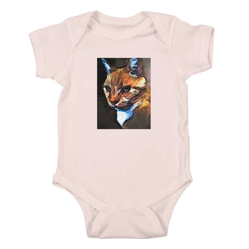 The Gold Cat with the Stage Presence Kids Baby Bodysuit by jackievano's Artist Shop