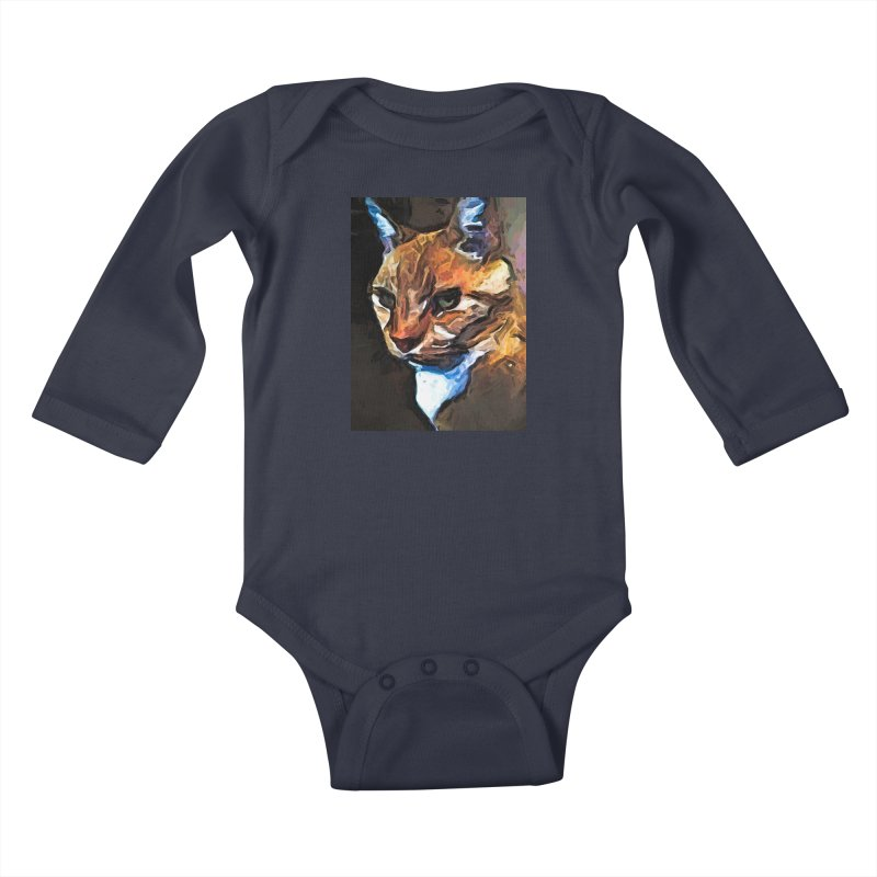 The Gold Cat with the Stage Presence Kids Baby Longsleeve Bodysuit by jackievano's Artist Shop