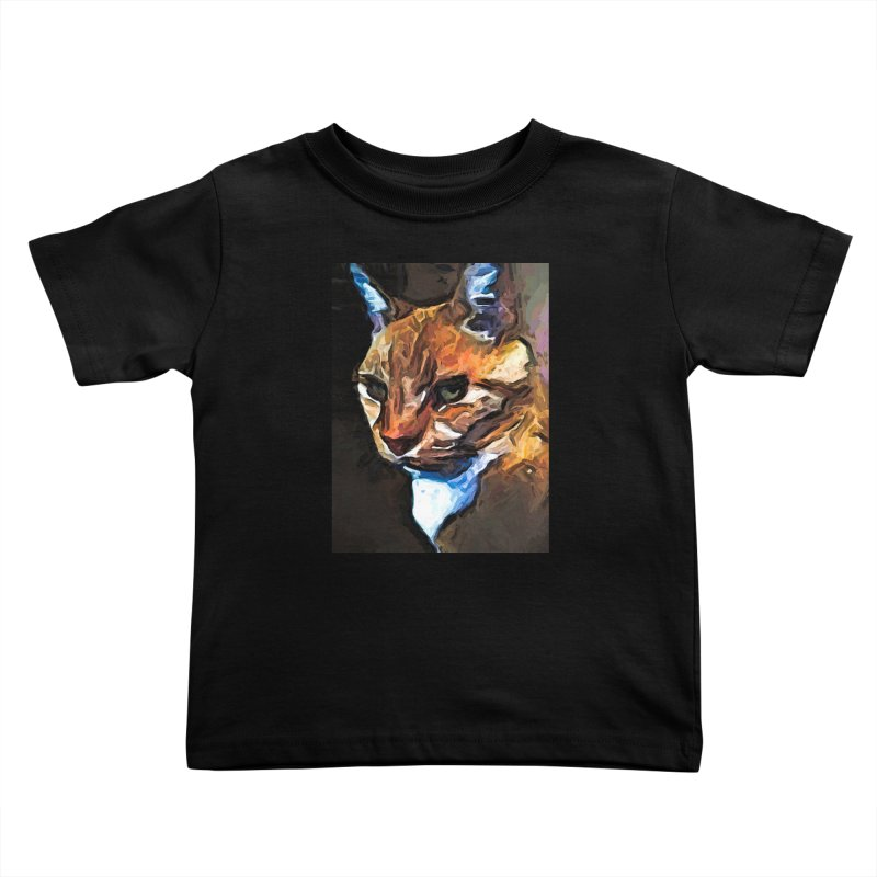 The Gold Cat with the Stage Presence Kids Toddler T-Shirt by jackievano's Artist Shop